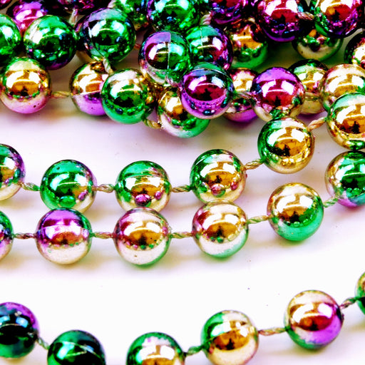 Beads, 12mm 42in Metallic 3 Tone Purple, Green, Gold, Beads-GulfCoastBeads.com