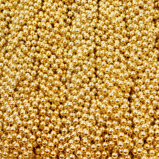 Beads, 10mm 40in Metallic Gold, Beads-GulfCoastBeads.com