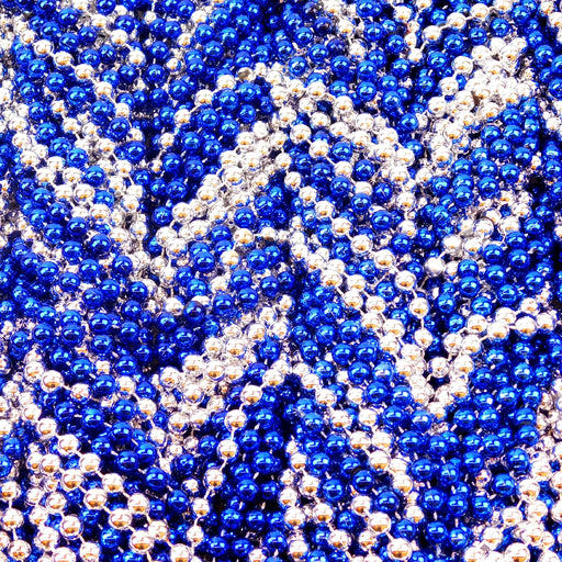 Beads, 10mm 48in Metallic Blue & Silver, Beads-GulfCoastBeads.com