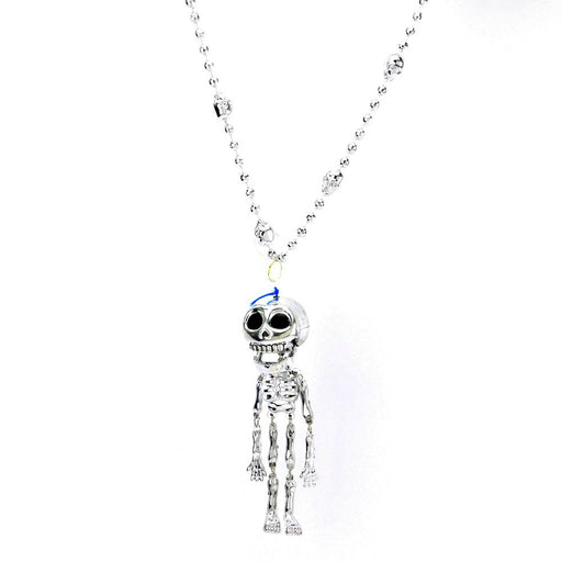 Beads, 6mm 33in Globe Silver w/ Moveable Skeleton, Beads-GulfCoastBeads.com