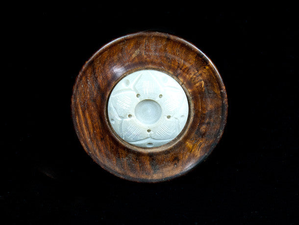 Stone and Wood Incense Holder