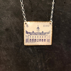 Irish Castle Stamp Tin Necklace