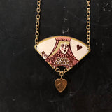 Queen of Hearts Tin Necklace
