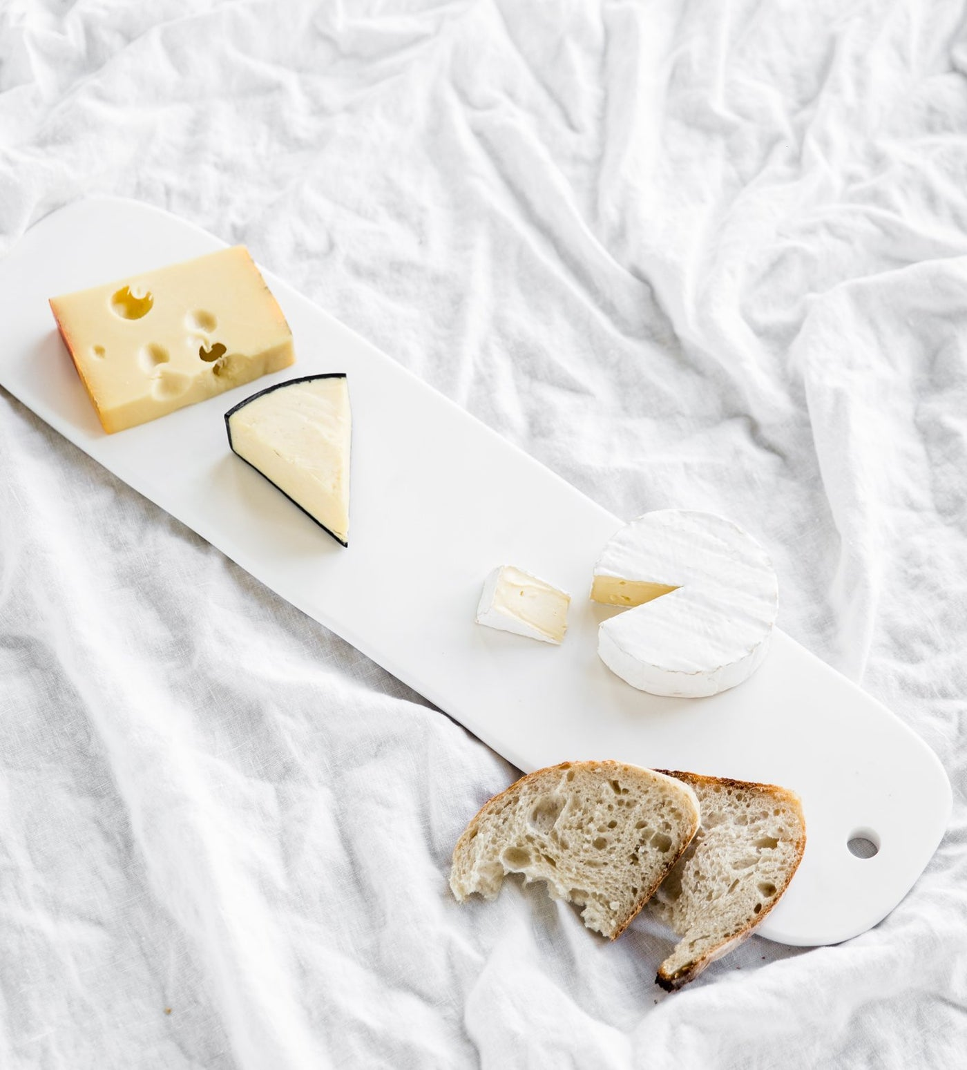 resin cheese platter, white cheese platter, designer cheese board, Tina Frey Designs Australia