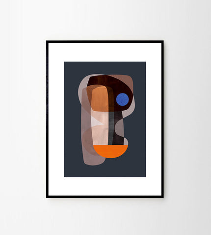 Abstract Cubism Art Print