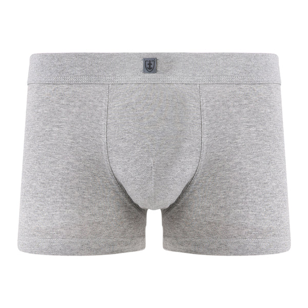 Shorty ceinture tricotée Coton Stretch GRIS CHINE