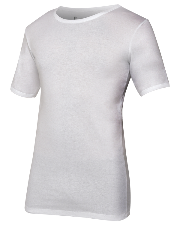 Lot de 2  T-Shirt col Rond en Coton Fines Cotes   PAUL   Blanc