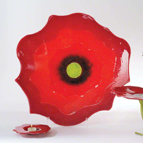 Poppy dish - red - very small