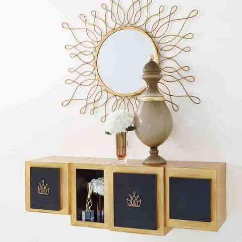 Lombardy Wall Cabinet-Crown-Lg