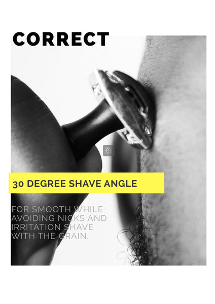 Black/Gold Single Blade Shaver (Safety Razor)