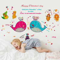 Wall sticker-Lovely whales wall sticker