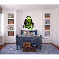 3D hole in jungle wall wall sticker - Kids Room Deco