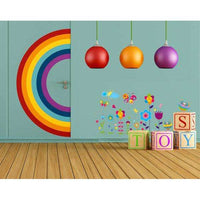 Colorful flowers wall sticker - Kids Room Deco
