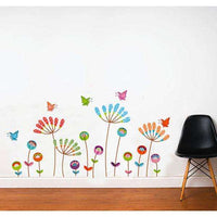 Colorful flowers wall sticker  New typle - Kids Room Deco