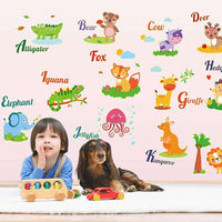 Alphabet wall stickers (glow in the dark) - Kids Room Deco