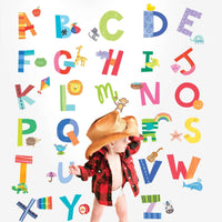 Alphabet Fun Vinyl Decals - Kids Room Deco