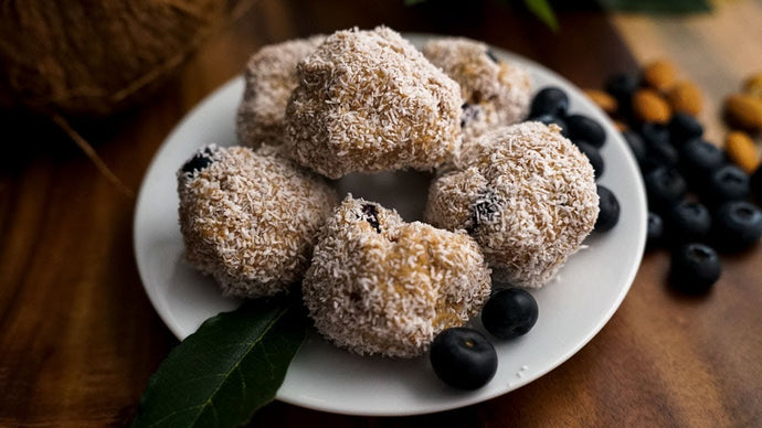 Keto Blueberry Coconut Fat Bombs