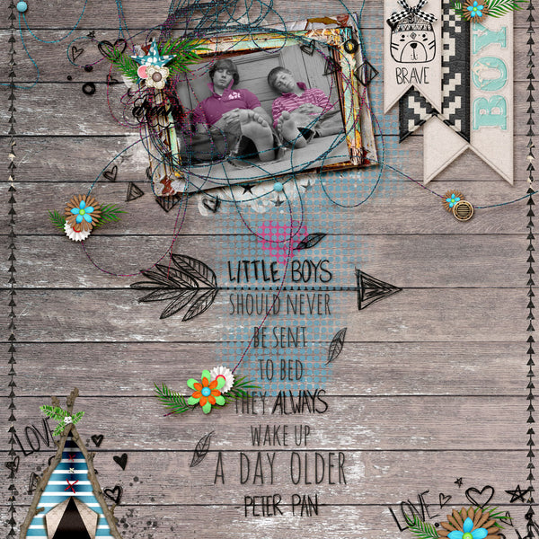 What Little Boys are Made of: Mixed Media