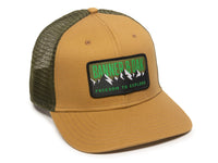 Bighorn Scout Patch Snapback Trucker Hat Khaki Front Left View