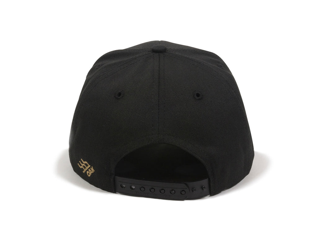Eagle Scout Patch Snapback Cap Black Back View