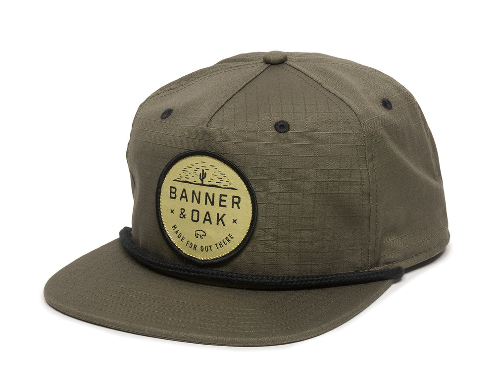 Mojave Scout Patch Snapback Cap Olive Green Front Right View