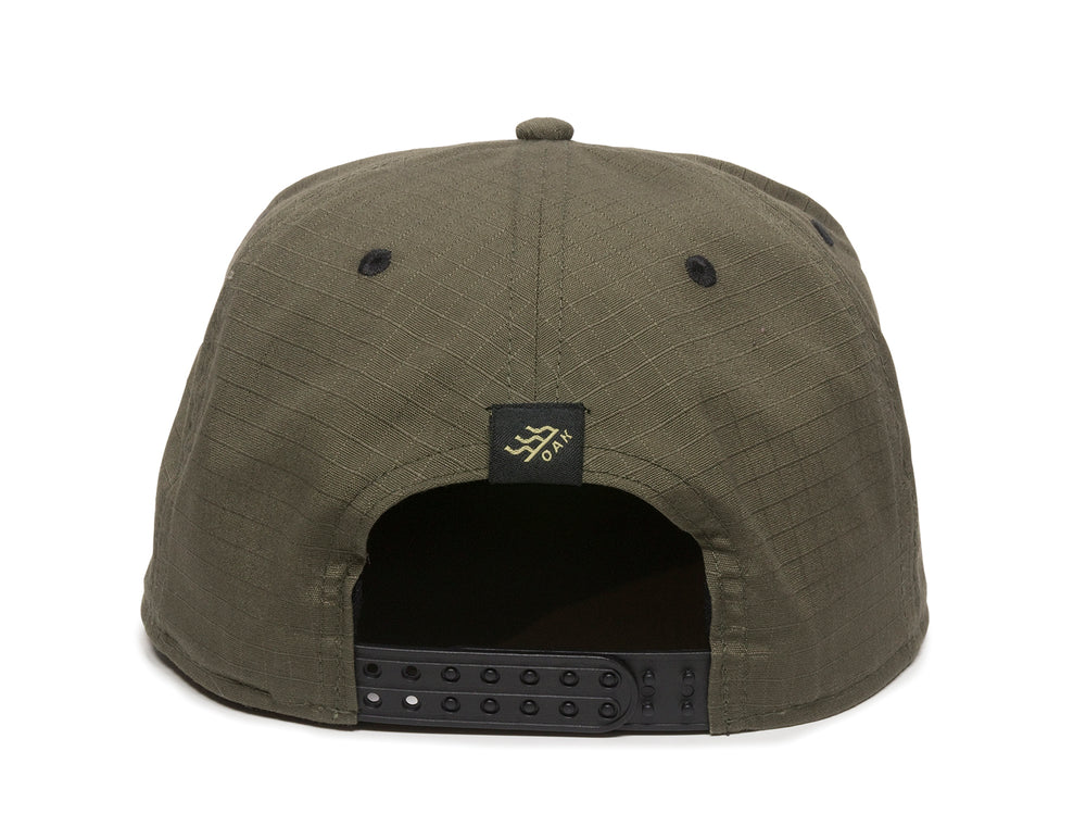 Mojave Scout Patch Snapback Cap Olive Green Back View