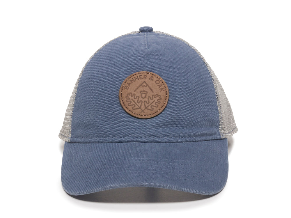 Pathfinder Scout Patch Snapback Trucker Ladies Fit Hat Blue Front View