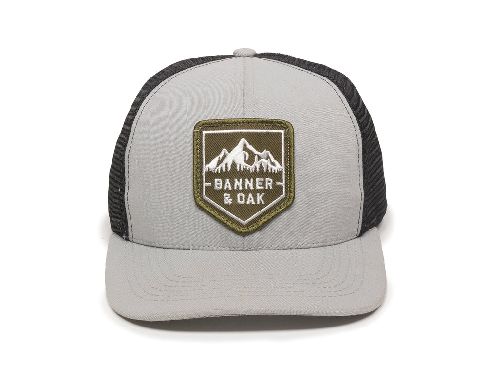 Sierra Scout Patch Snapback Trucker Hat Gray Front View