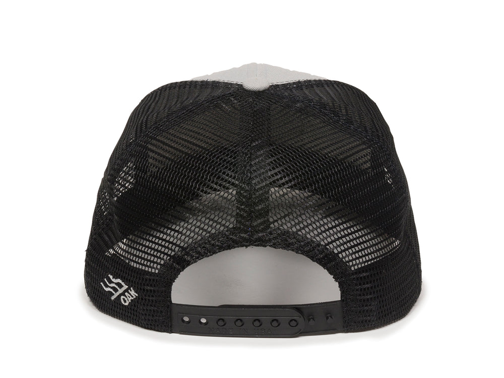 Sierra Scout Patch Snapback Trucker Hat Gray Back View
