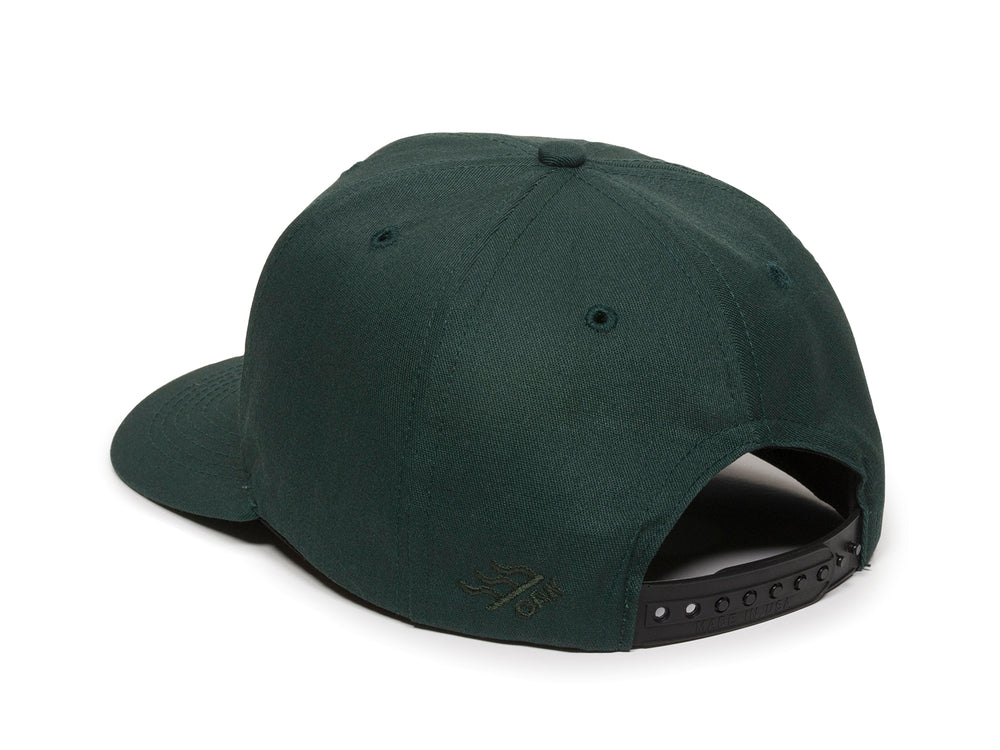 Sierra Scout Patch Snapback Cap Spruce Green Logo Side Hit