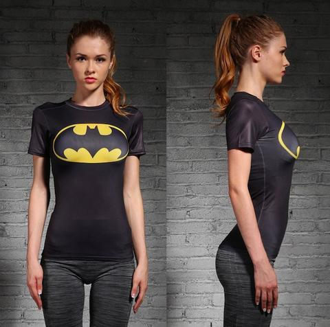 Batman Classic Women's Short Sleeve Rash Guard-RashGuardStore
