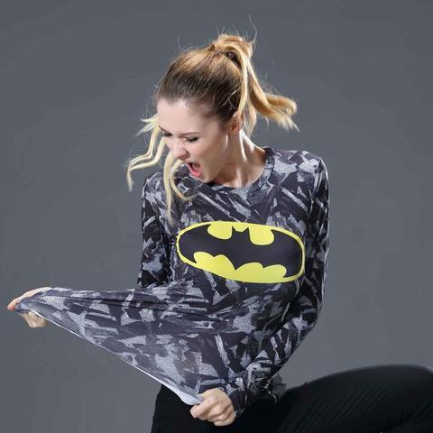 Batman Onyx Women's Long Sleeve Rashguard-RashGuardStore