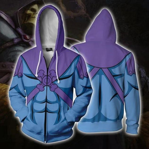 He Man 'Skeletor' Zip Up Hoodie-RashGuardStore