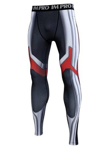 Men's Avengers End Game 'Quantum Realm Suit' Premium Compression Leggings-RashGuardStore