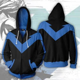 Nightwing 'Dick Grayson' Zip Up Hoodie-RashGuardStore