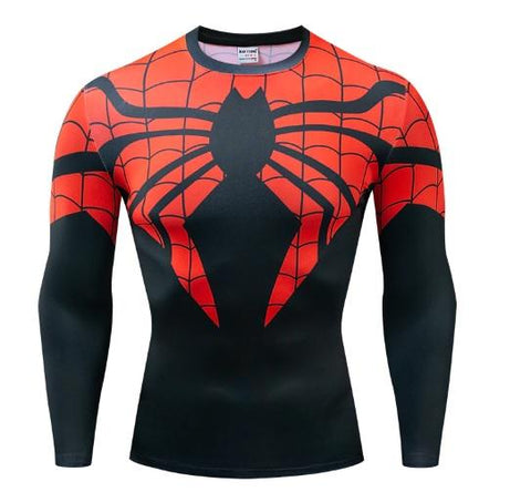 "Spiderman ""Superior"" Dri-Fit Long Sleeve Rash Guard-RashGuardStore"