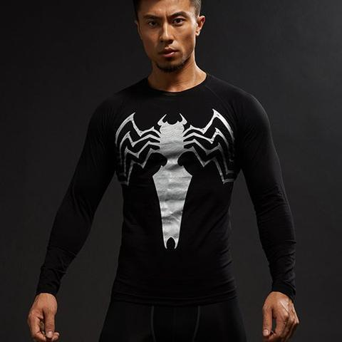 Venom 'Animated' Compression Long Sleeve Rashguard-RashGuardStore