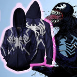 Venom 'Two Tone' Zip Up Hoodie-RashGuardStore