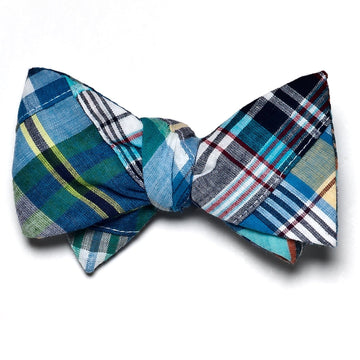 Patchwork Madras Bow Tie- Bethany