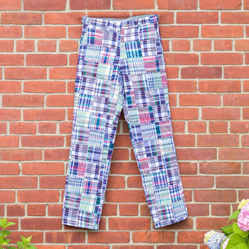 Classic Patchwork Madras Pants- Chatham