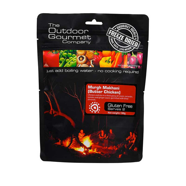 The Outdoor Gourmet Company - Butter Chicken 2 Serve - Gourmet Freeze Dried Meal