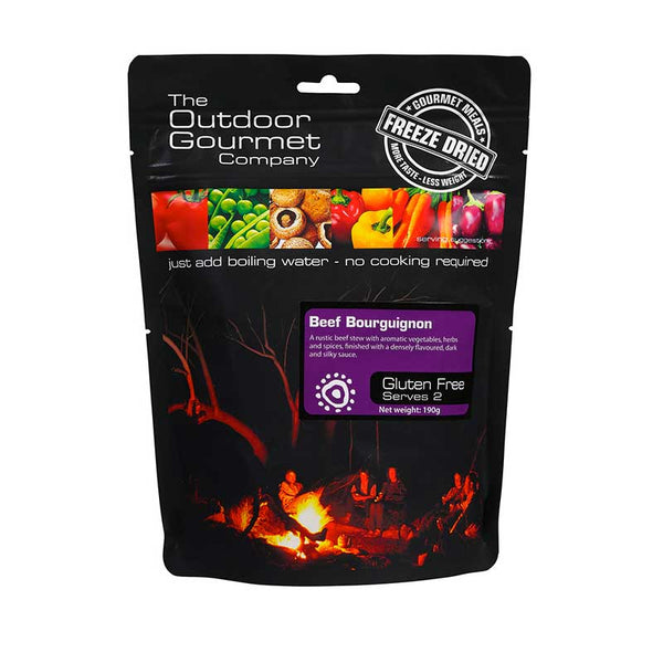 The Outdoor Gourmet Company - Beef Bourguignon 2 Serve - Gourmet Freeze Dried Meal