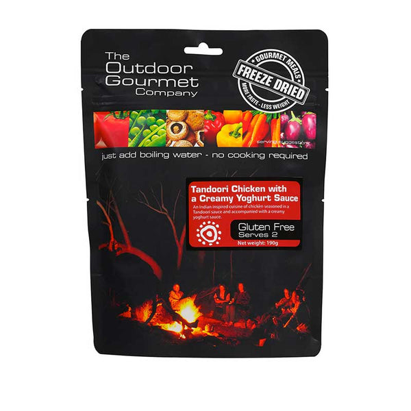 The Outdoor Gourmet Company - Tandoori Chicken w' Yoghurt 2 Serve - Gourmet Freeze Dried Meal
