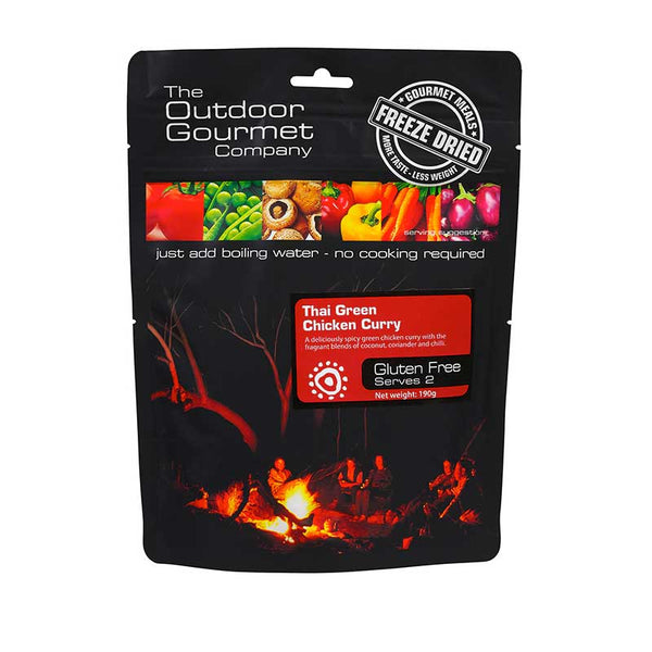 The Outdoor Gourmet Company - Thai Green Chicken Curry 2 Serve - Gourmet Freeze Dried Meal