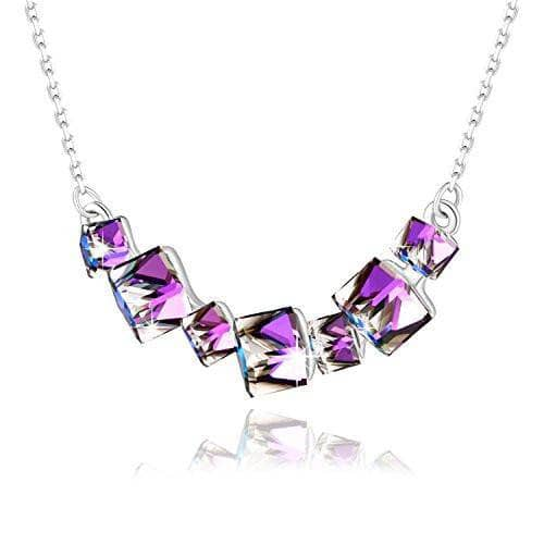 Swarovski Crystal Crystal Smiling Pendant Necklace, Blue/ Purple