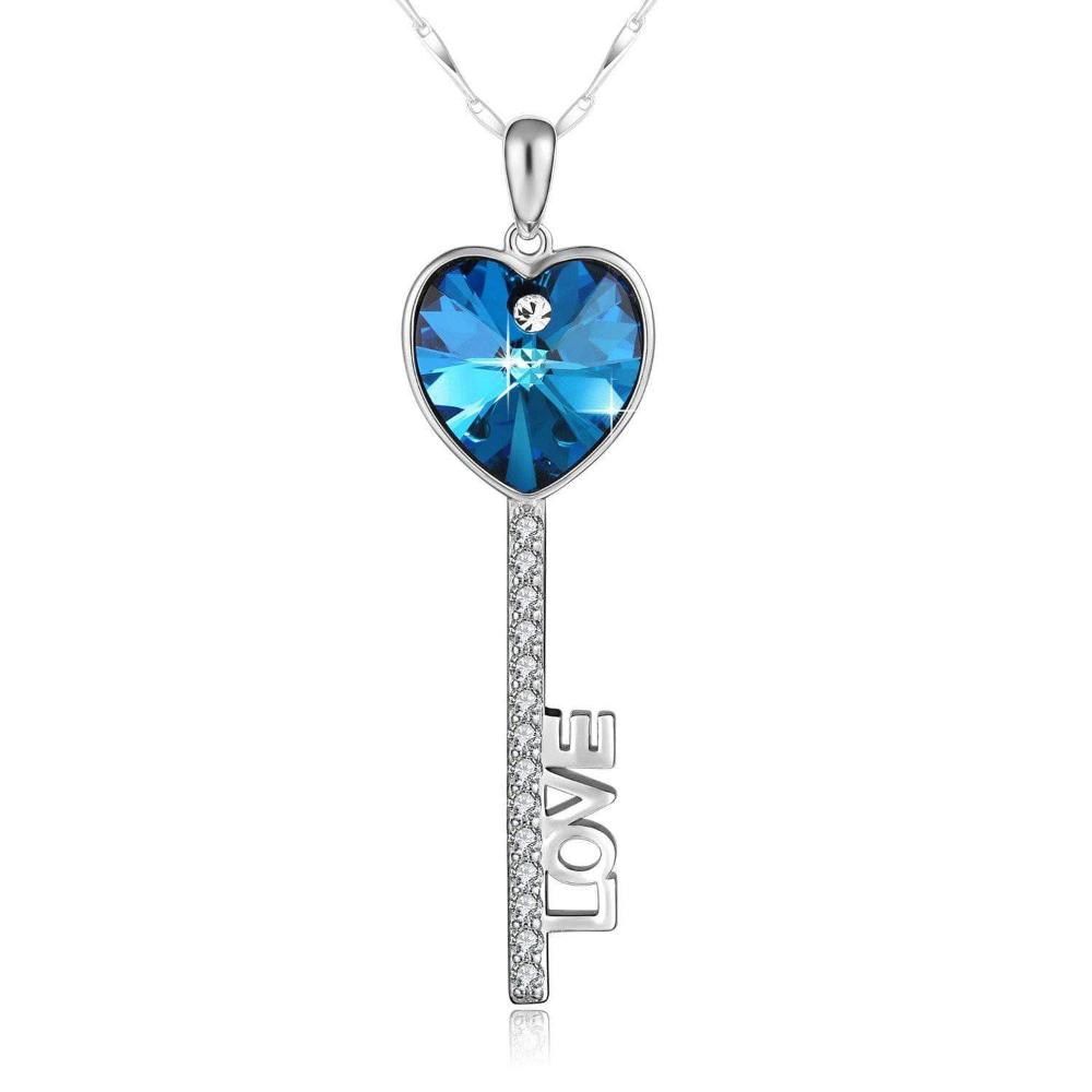 Key Of Love Pendant Necklace