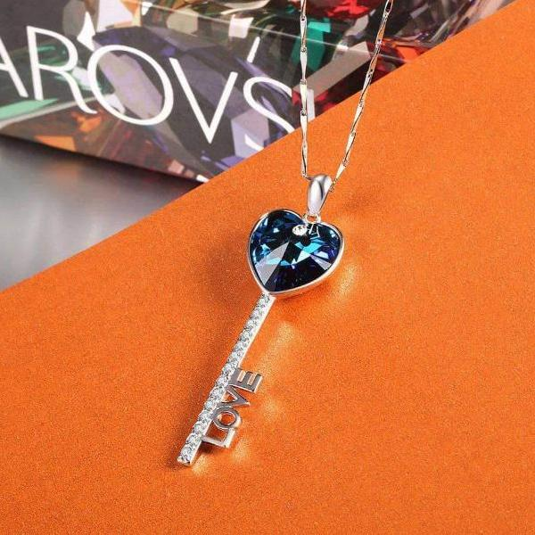 Key Of Love Pendant Necklace Gift