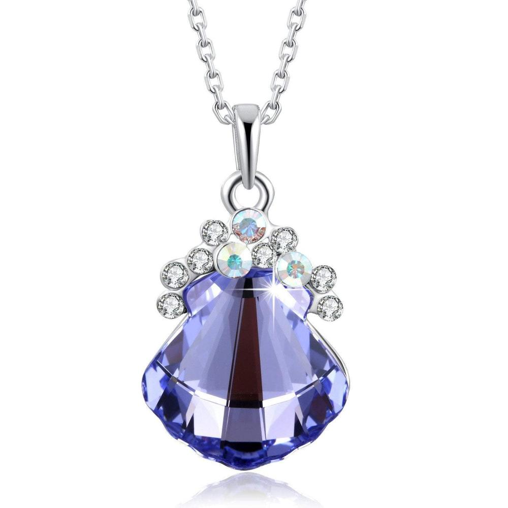 Swarovski Crystal Dancing Dress Necklace Pendant