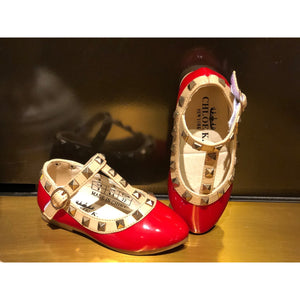 Chloe K Red Studded Shoes