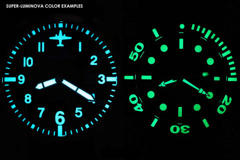 Swiss Super-LumiNova® color examples